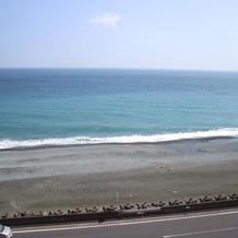 式場から見える海