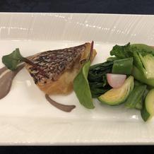 試食 真鯛のポワレ
