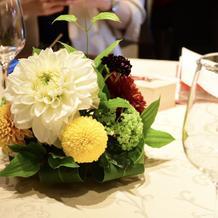 卓上装花も素敵でした