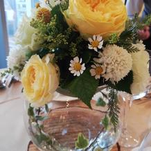 披露宴テーブルのお花