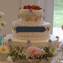 大満足のケーキ。