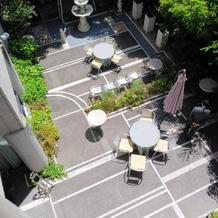 レストランのお庭