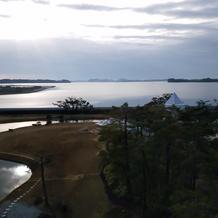 ホテルから見える景色