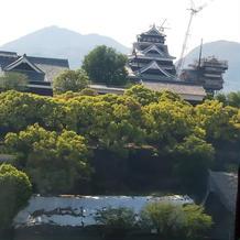 披露宴会場からは綺麗に熊本城が見えます