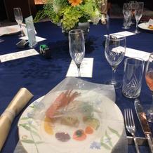 テーブルも綺麗に飾りつけされていました