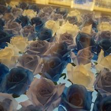 バージンロードはサムシングブルーのバラ