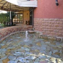 入り口付近の噴水