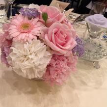 ゲスト席 装花