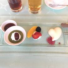 当日の1万円のコースで特別デザート