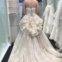 試着にて。重いドレスでした