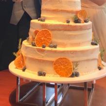ケーキカット用のケーキです。
