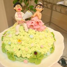 装飾のケーキ