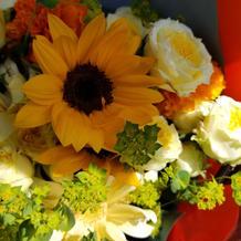 季節的に向日葵は無理と思ってたのに、、