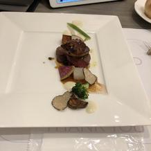 フォアグラと牛肉のポワレ