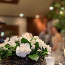 披露宴会場 お花