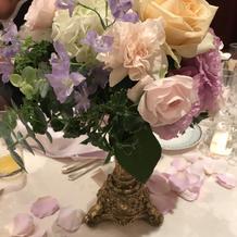 ゲスト卓用装花