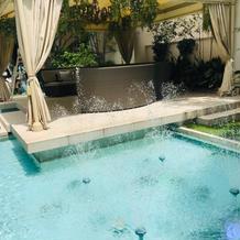 庭のプール