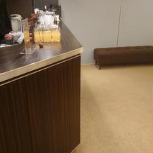 待合室 ウェルカムドリンク