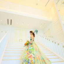 大階段での写真