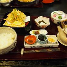 ホテル内レストラン 天ぷら定食
