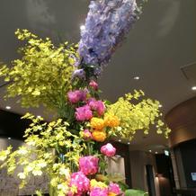 ロビー装花
