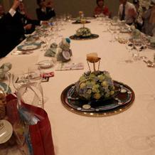 テーブルも素敵です