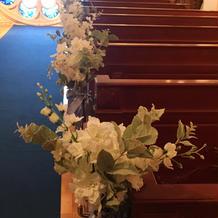 挙式会場の花
