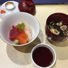ミニ海鮮丼を頂きました。