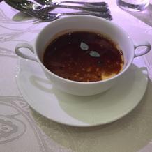 フォアグラソースがけの洋風茶碗蒸し