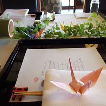 鶴は手作りです