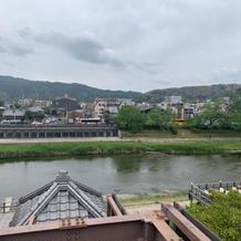 式場から見える鴨川