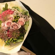 両親贈呈の花束