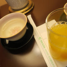 親族控室での飲み物
