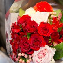 新婦用サプライズ花束