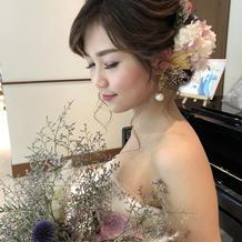 ドレスとお花