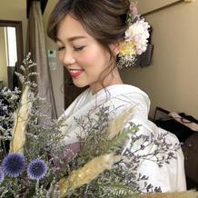 白無垢とお花