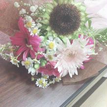 式場で頂いたお花