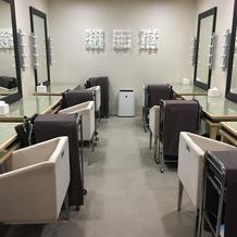 ゲストのヘアセット室