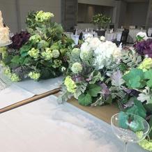 テーブルのお花のセンスがよかったです
