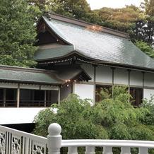 中庭と神殿