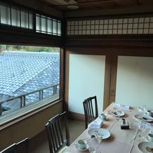 レストラン二階の部屋