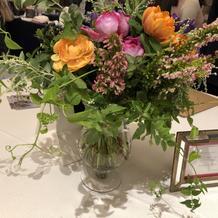 アイテムフェアにて装花サンプル