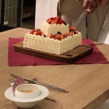 ケーキが絶品 ゲストが喜んでました
