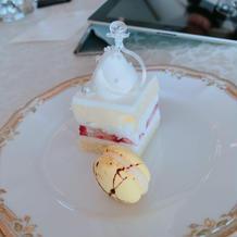 試食のケーキです