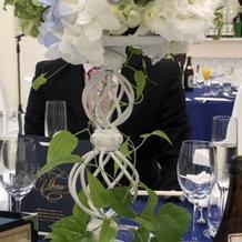 ゲスト席のお花