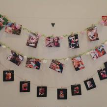 ゲストルームに飾ったペットの写真