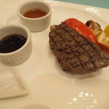 メインのお肉は常陸牛で3種の味にしました