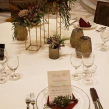 テーブルのデザイン例を見学してワクワク