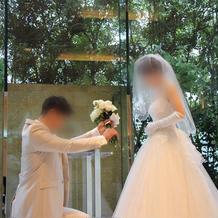 入場後新郎からのプロポーズをしました