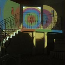 階段上の入り口